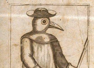 A Plague Doctor from Jean Jacques Mang et Traité de la peste 1721 A physician dressed inprotective plague costume